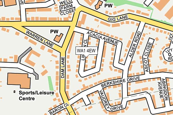 WA1 4EW map - OS OpenMap – Local (Ordnance Survey)