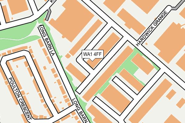 WA1 4FF map - OS OpenMap – Local (Ordnance Survey)