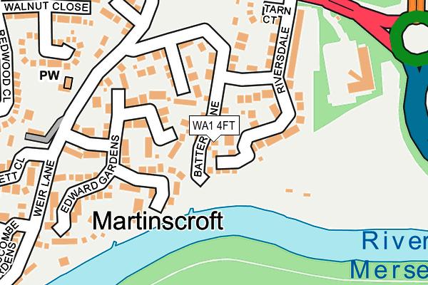 WA1 4FT map - OS OpenMap – Local (Ordnance Survey)