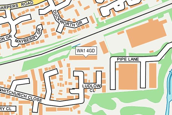 WA1 4GD map - OS OpenMap – Local (Ordnance Survey)