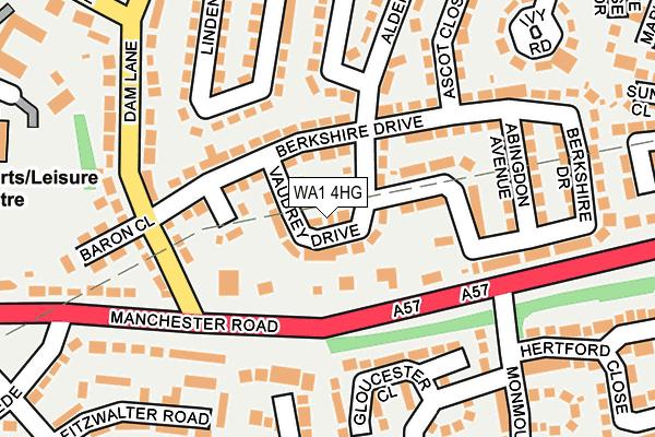 WA1 4HG map - OS OpenMap – Local (Ordnance Survey)