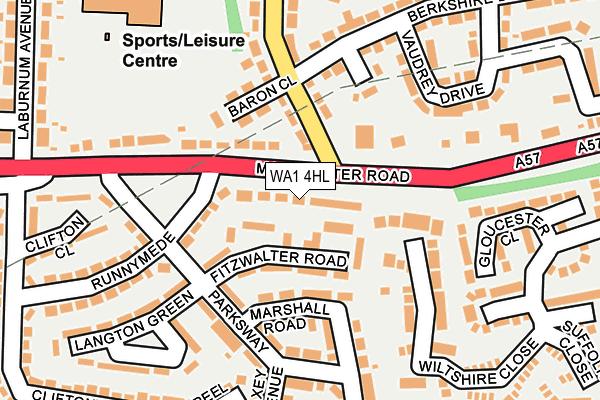 WA1 4HL map - OS OpenMap – Local (Ordnance Survey)