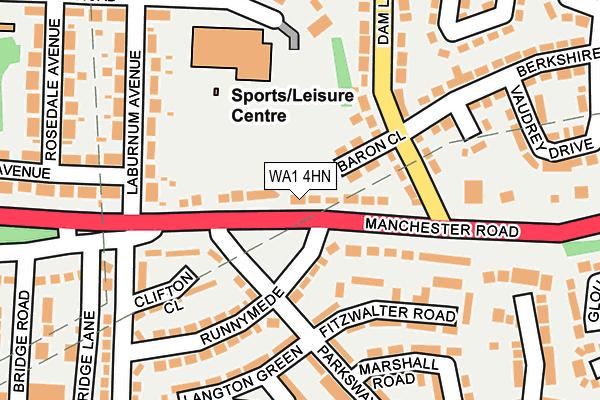 WA1 4HN map - OS OpenMap – Local (Ordnance Survey)
