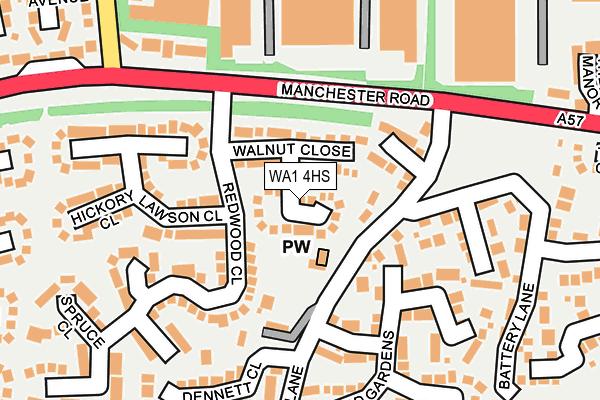 WA1 4HS map - OS OpenMap – Local (Ordnance Survey)