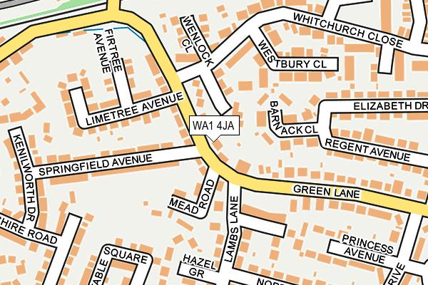 WA1 4JA map - OS OpenMap – Local (Ordnance Survey)