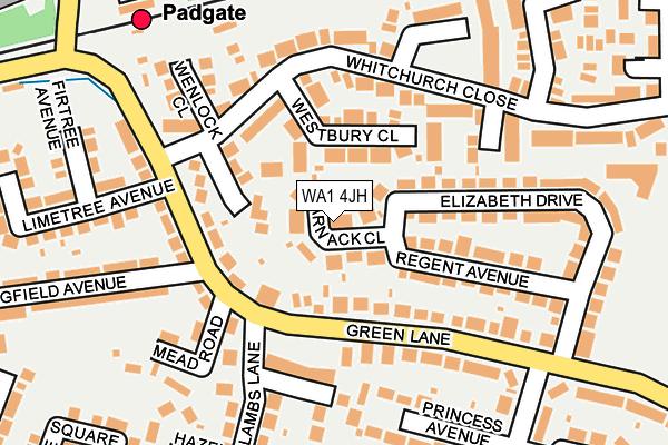 WA1 4JH map - OS OpenMap – Local (Ordnance Survey)