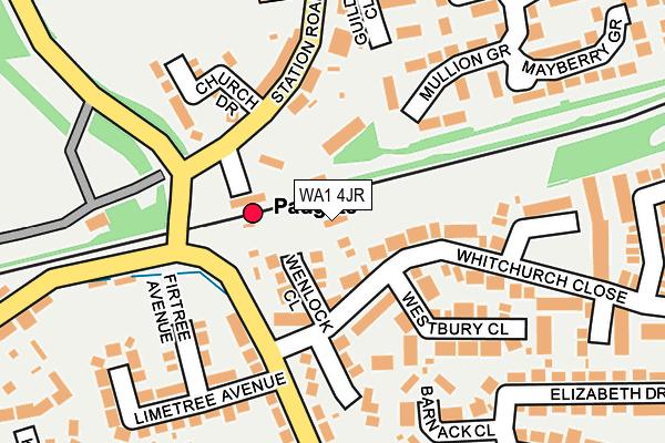 WA1 4JR map - OS OpenMap – Local (Ordnance Survey)