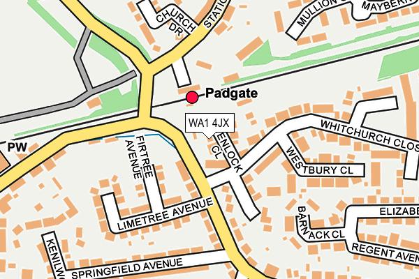 WA1 4JX map - OS OpenMap – Local (Ordnance Survey)