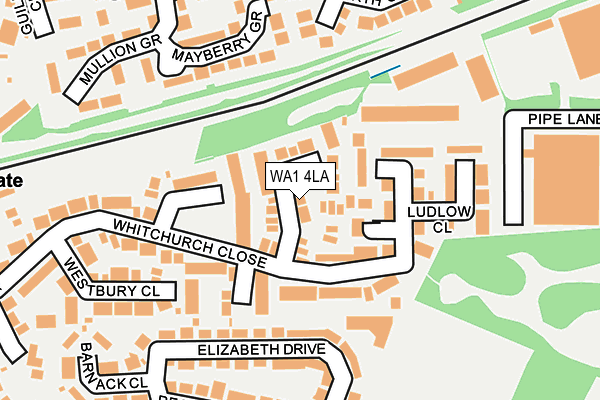 WA1 4LA map - OS OpenMap – Local (Ordnance Survey)
