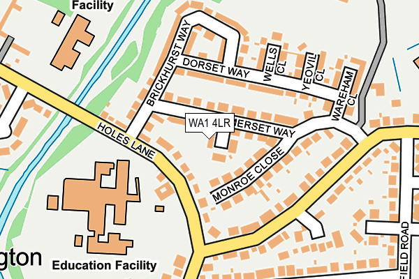 WA1 4LR map - OS OpenMap – Local (Ordnance Survey)