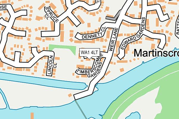 WA1 4LT map - OS OpenMap – Local (Ordnance Survey)