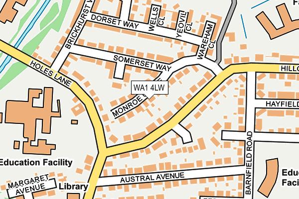WA1 4LW map - OS OpenMap – Local (Ordnance Survey)