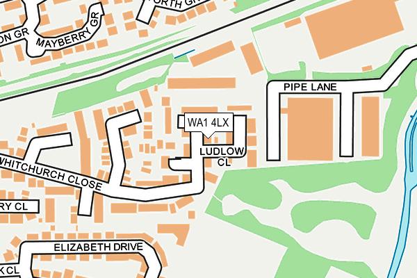 WA1 4LX map - OS OpenMap – Local (Ordnance Survey)