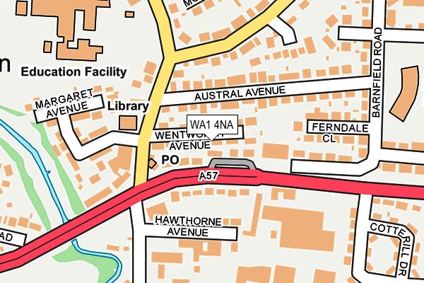 WA1 4NA map - OS OpenMap – Local (Ordnance Survey)
