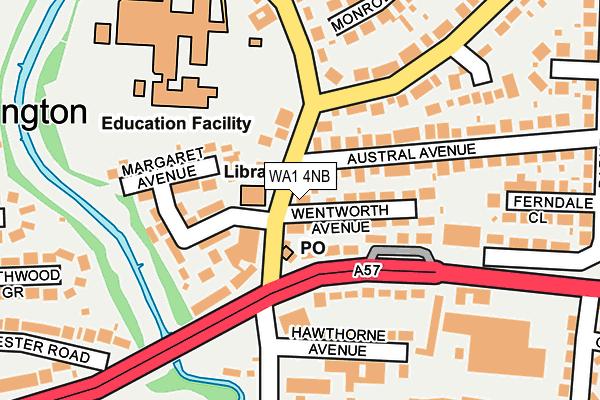 WA1 4NB map - OS OpenMap – Local (Ordnance Survey)