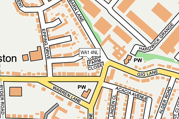 WA1 4NL map - OS OpenMap – Local (Ordnance Survey)