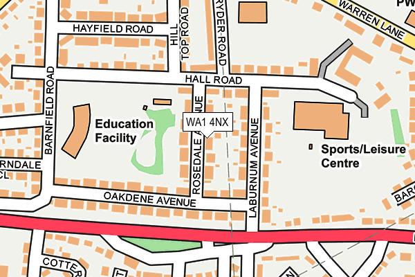 WA1 4NX map - OS OpenMap – Local (Ordnance Survey)