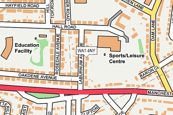 WA1 4NY map - OS OpenMap – Local (Ordnance Survey)