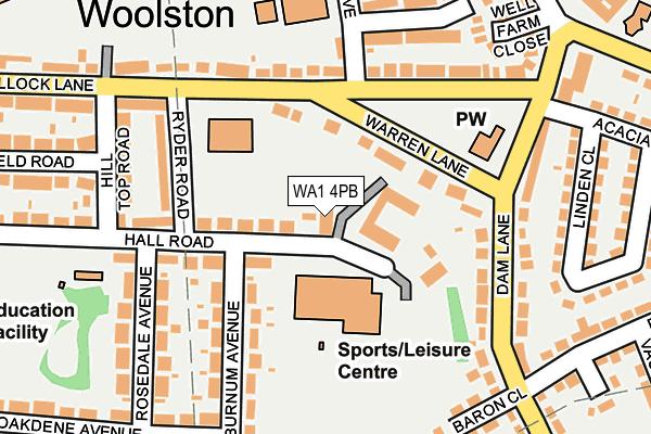 WA1 4PB map - OS OpenMap – Local (Ordnance Survey)