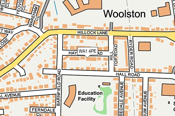 WA1 4PE map - OS OpenMap – Local (Ordnance Survey)
