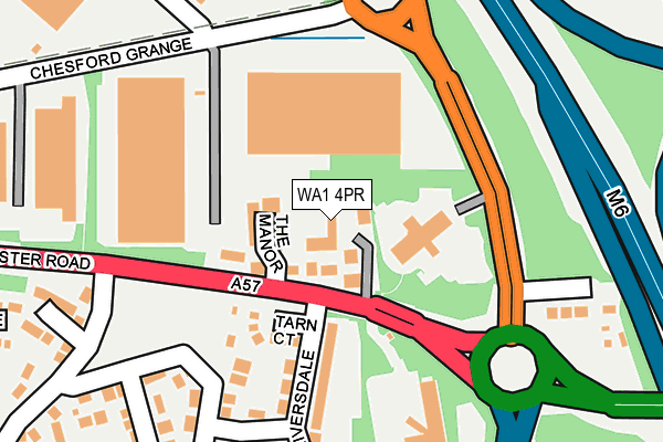 WA1 4PR map - OS OpenMap – Local (Ordnance Survey)