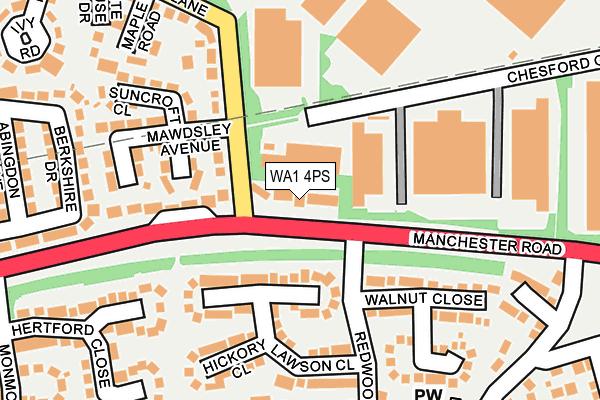 WA1 4PS map - OS OpenMap – Local (Ordnance Survey)