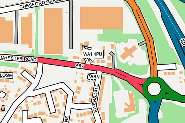 WA1 4PU map - OS OpenMap – Local (Ordnance Survey)