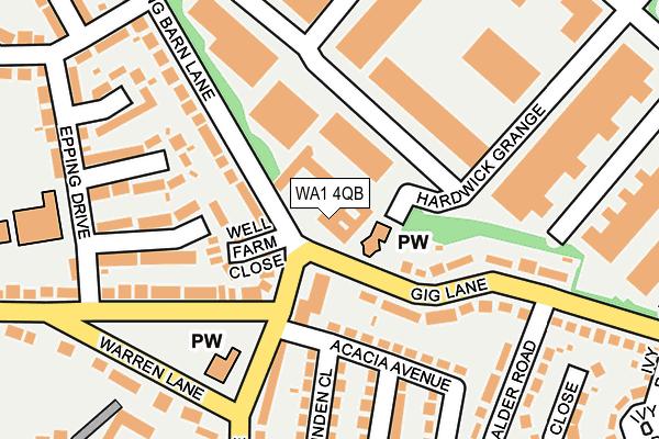 WA1 4QB map - OS OpenMap – Local (Ordnance Survey)