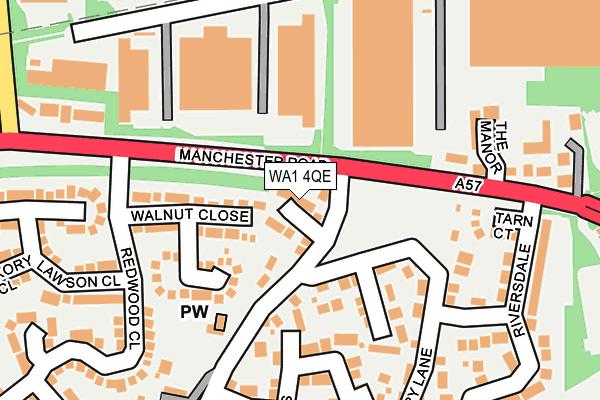WA1 4QE map - OS OpenMap – Local (Ordnance Survey)