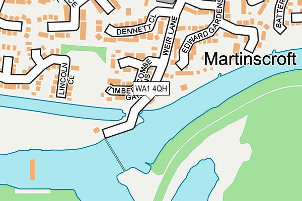 WA1 4QH map - OS OpenMap – Local (Ordnance Survey)