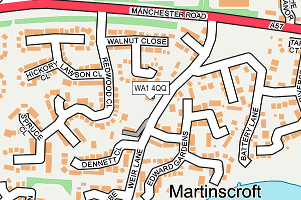 WA1 4QQ map - OS OpenMap – Local (Ordnance Survey)
