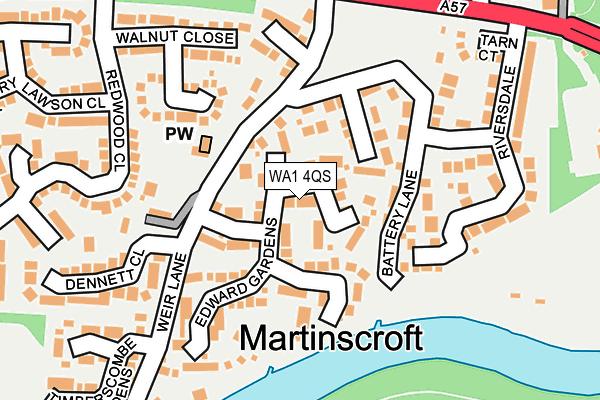 WA1 4QS map - OS OpenMap – Local (Ordnance Survey)