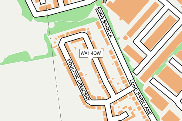 WA1 4QW map - OS OpenMap – Local (Ordnance Survey)