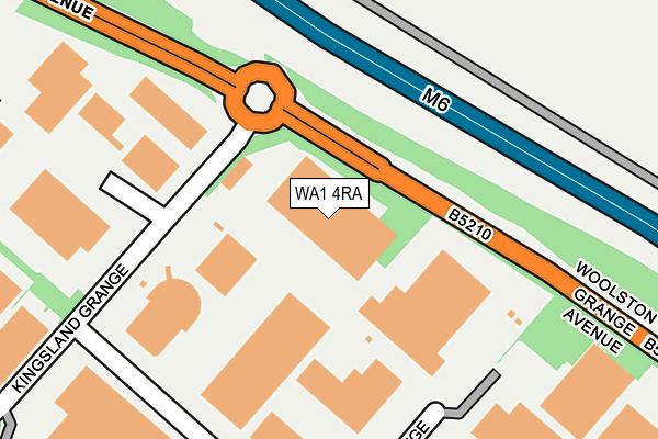 WA1 4RA map - OS OpenMap – Local (Ordnance Survey)
