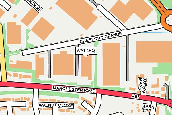WA1 4RQ map - OS OpenMap – Local (Ordnance Survey)