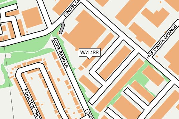 WA1 4RR map - OS OpenMap – Local (Ordnance Survey)