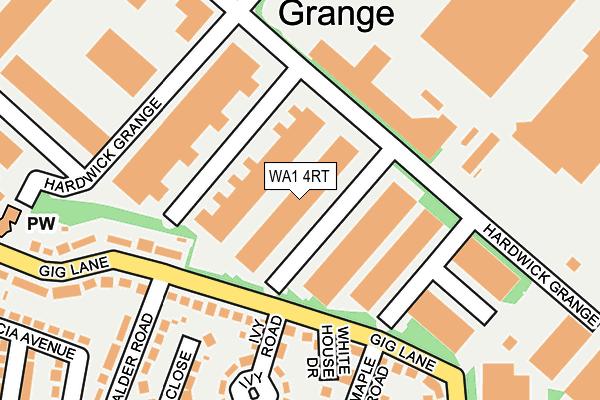 WA1 4RT map - OS OpenMap – Local (Ordnance Survey)