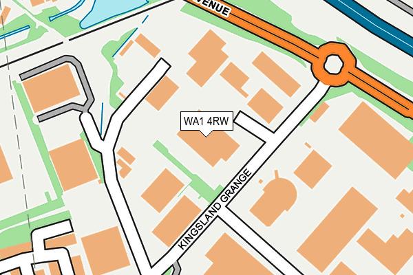 WA1 4RW map - OS OpenMap – Local (Ordnance Survey)