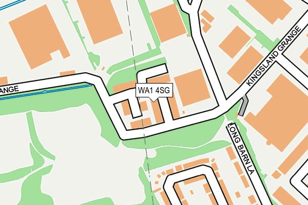 WA1 4SG map - OS OpenMap – Local (Ordnance Survey)