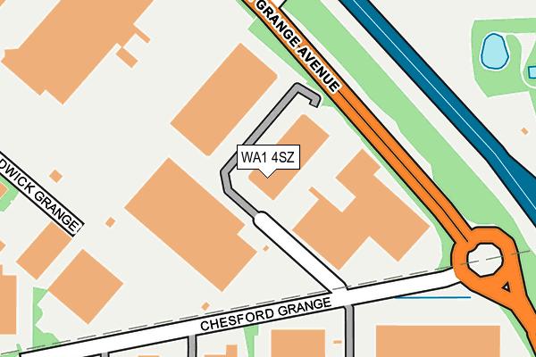WA1 4SZ map - OS OpenMap – Local (Ordnance Survey)