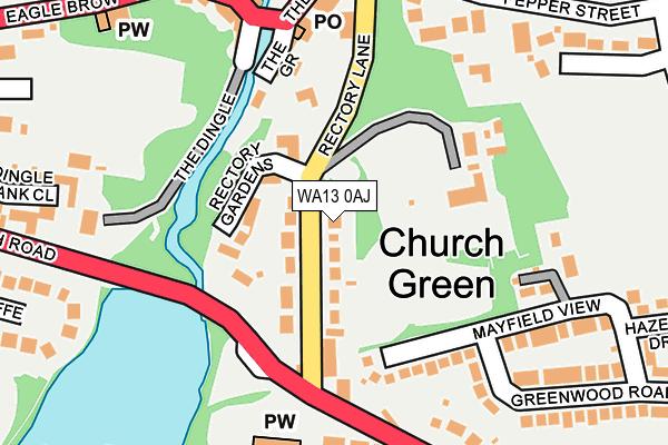 WA13 0AJ map - OS OpenMap – Local (Ordnance Survey)