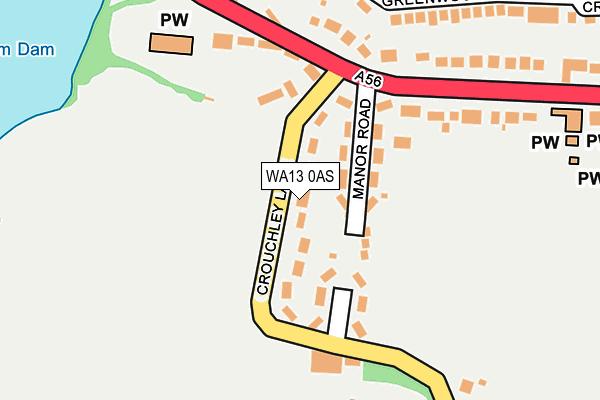 WA13 0AS map - OS OpenMap – Local (Ordnance Survey)