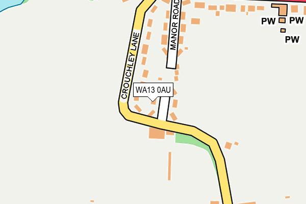WA13 0AU map - OS OpenMap – Local (Ordnance Survey)