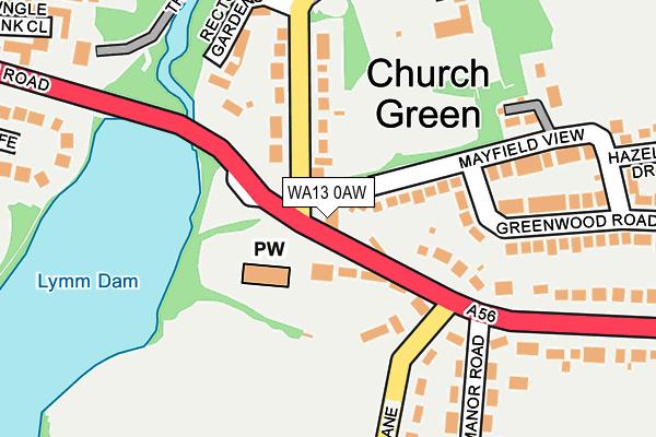 WA13 0AW map - OS OpenMap – Local (Ordnance Survey)
