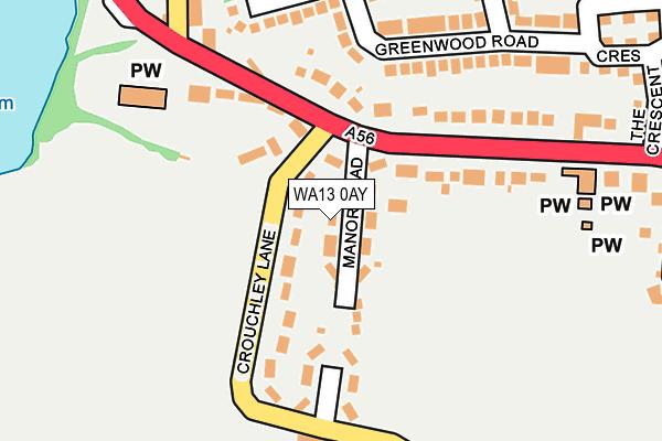 WA13 0AY map - OS OpenMap – Local (Ordnance Survey)