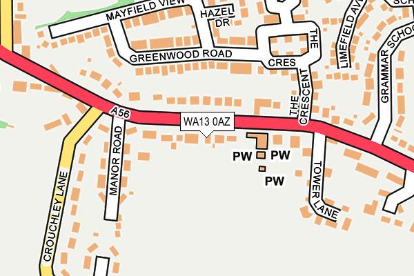 WA13 0AZ map - OS OpenMap – Local (Ordnance Survey)