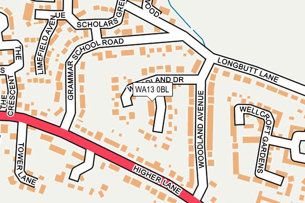 WA13 0BL map - OS OpenMap – Local (Ordnance Survey)