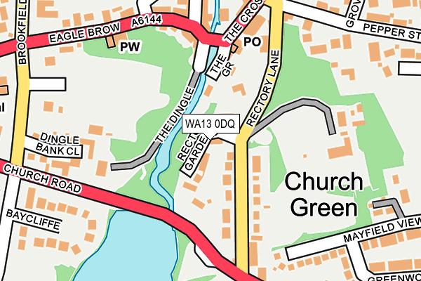WA13 0DQ map - OS OpenMap – Local (Ordnance Survey)