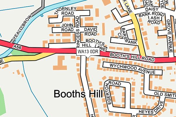 WA13 0DR map - OS OpenMap – Local (Ordnance Survey)