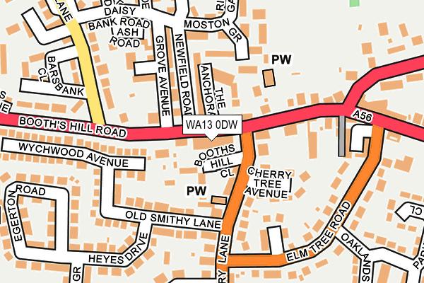 WA13 0DW map - OS OpenMap – Local (Ordnance Survey)
